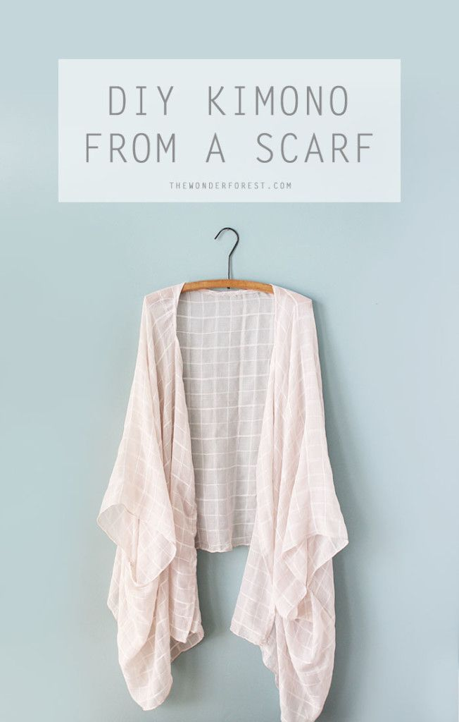 Being able to create something quickly and easily that looks totally legit, is something that I love doing. With a $10 scarf, I created this soft and flowy kimono and am going to show you how to do it too!  This is a really quick project (perfect for the weekend!) and once you're done, you'll prob
