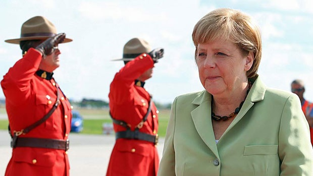German Chancellor Angela Merkel on an official visit to Canada | #politics