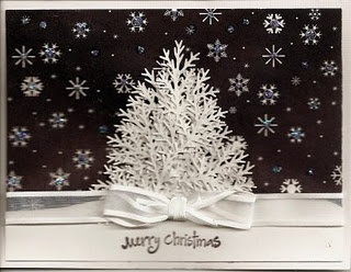 Another MS branch punch... love the black and white....: Christmas Cards, Stewrat Branches, Cards Cakes, White Christmas, Branches Punch, Martha Stewrat, Martha Stewart, Christmas Trees, Stewart Branches