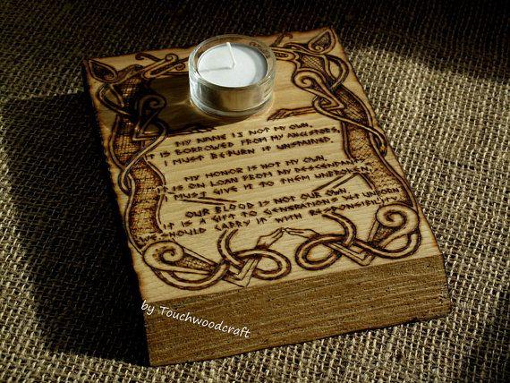 Nordique porte T-light, Decor Viking, Celtic, prière, retable. Païens, païen… Plus