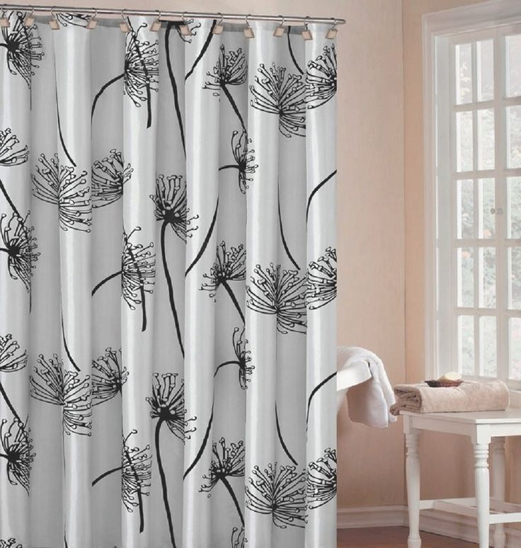 DR International Soleil Shower Curtain In Silverits A Fabric