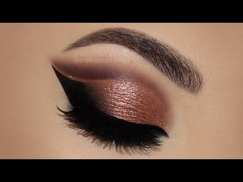 ⭐ Copper Cut Crease Glitter MakeUp Tutorial | Melissa Samways ⭐ - YouTube