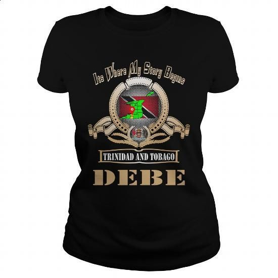 Debe Trinidad and Tobago - #design tshirt #cotton t shirts. ORDER HERE => https://www.sunfrog.com/LifeStyle/Debe-Trinidad-and-Tobago-129112171-Black-Ladies.html?60505