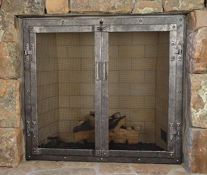 custom fireplace doors house ideas pinterest