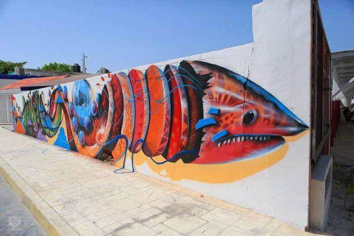 Фестиваль стрит-арта на острове Косумель