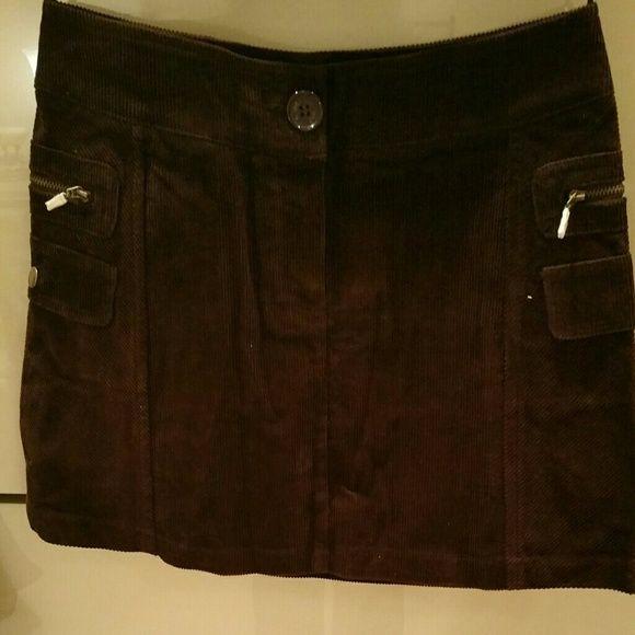 MNG Corduroy Skirt Brown Curduroy Skirt. BRAND NEW from Mango Spain aka MNG Mango Skirts
