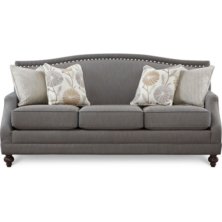 Style Collection: A Subtle Herringbone Pattern Was Choosen For The Body  Fabric To Highlight The Nail Head Trim. The Pewter Sofa Can Be Casual Or Dru2026