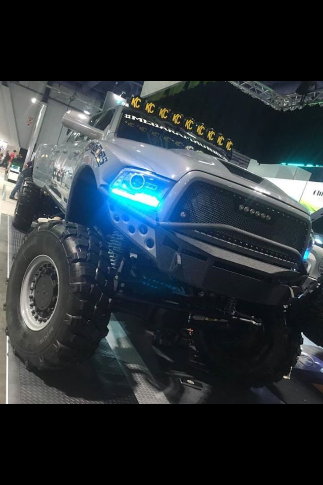 The Mega Ram Runner on point! #Dodge #Cummins #MegaRamRunner #Lights #KC #Lifted #Suspension
