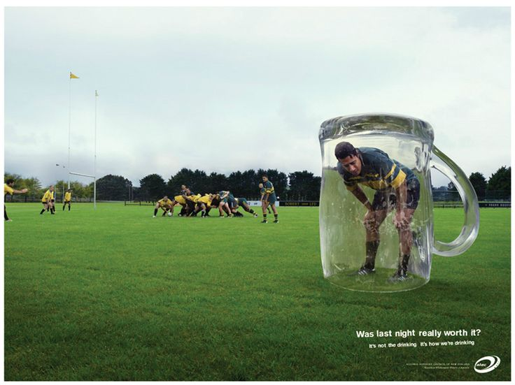 'It's not the drinking. It's how we're drinking.' by Clemenger BBDO for the Alcohol Advisory Council of New Zealand. #alcohol #drinking #sport