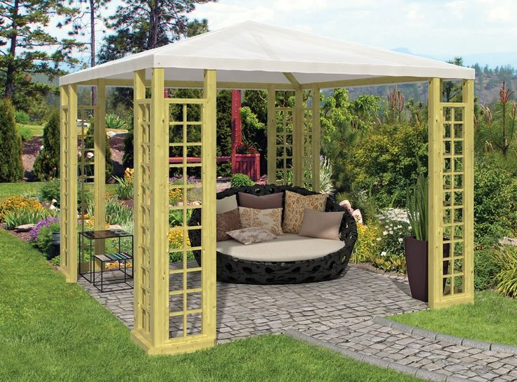 Wooden Gazebo With Perspex Roof