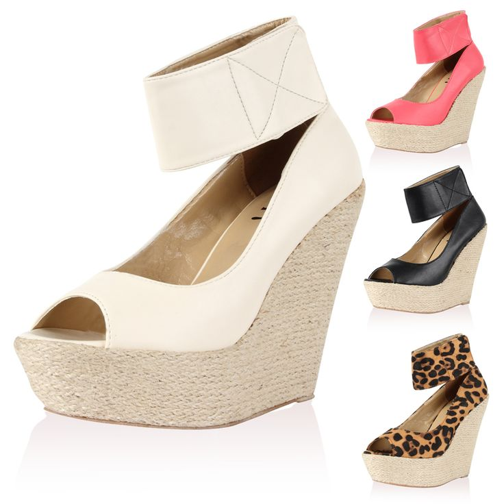 wedges and espadrilles summer 2015 | Ladies Espadrille Wedge Womens Platform Summer Party Peep Toe High ...