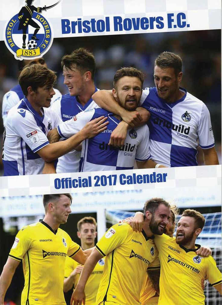 Bristol Rovers FC A3 Calendar 2017