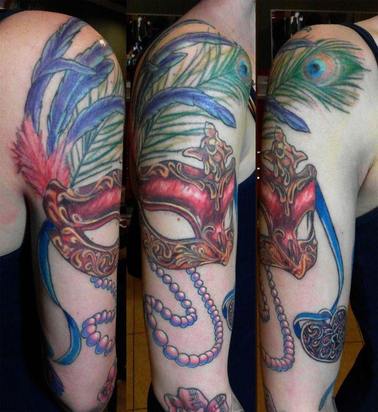 Masquerade Mask Tattoo by; Tony Nguyen