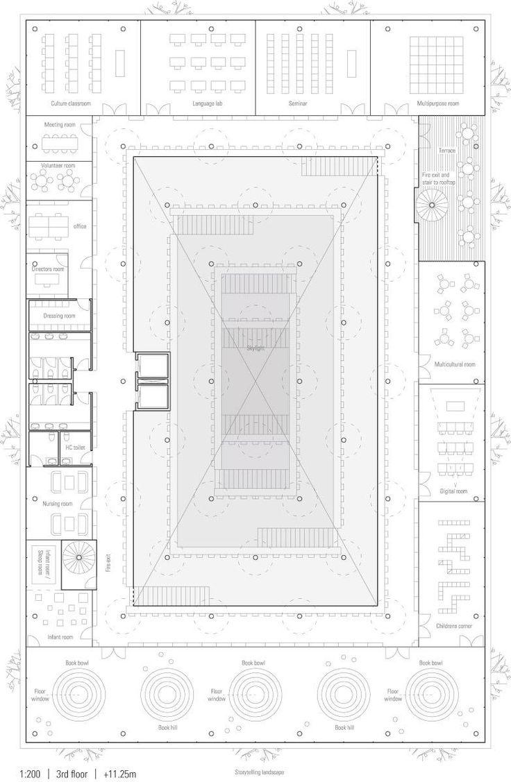 100 best plans images on pinterest architecture drawings jaja architects gosan public library daegu 13 jpg 783