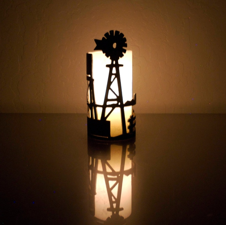 Windmill on the Farm - Decorative Metal Candle Holder. $19.95, via Etsy.