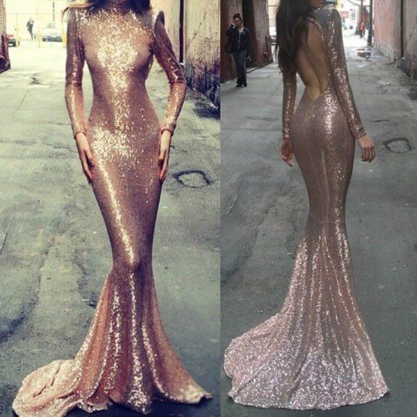 shimmering mermaid dress. Oh my gosh I wonder how my body would look in this