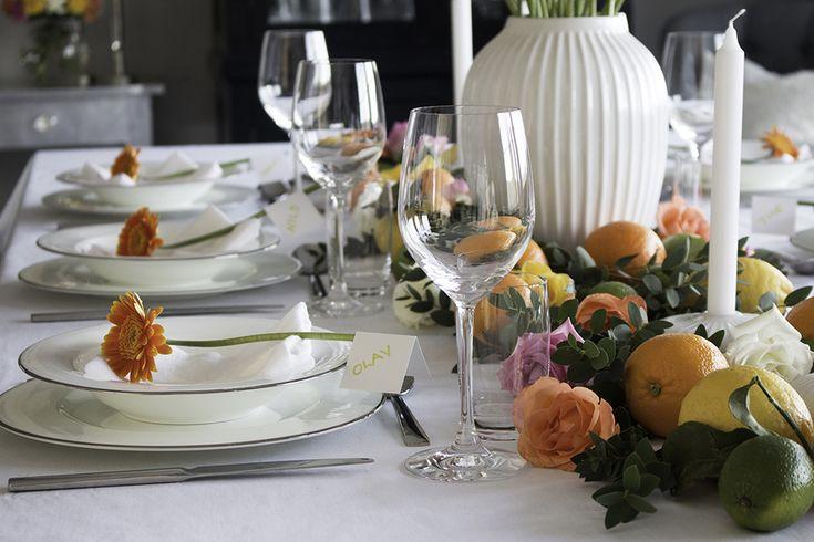 Konfirmasjon borddekking fargerik 4 table setting colorful