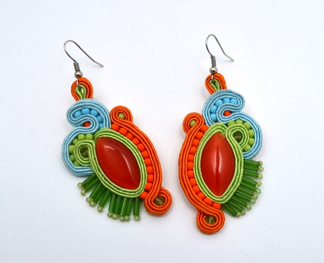 kolczyki sutasz soutache earrings 30