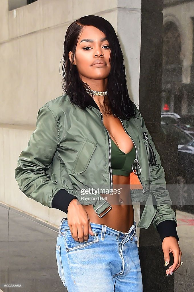 Singer Teyana Taylor is seen outside the 'Wendy Williams Show' on September 20, 2016 in New York City.