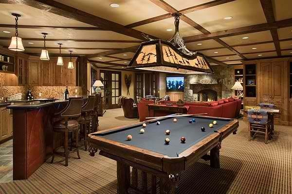 Luxury man cave game room bar man caves for Design a man cave