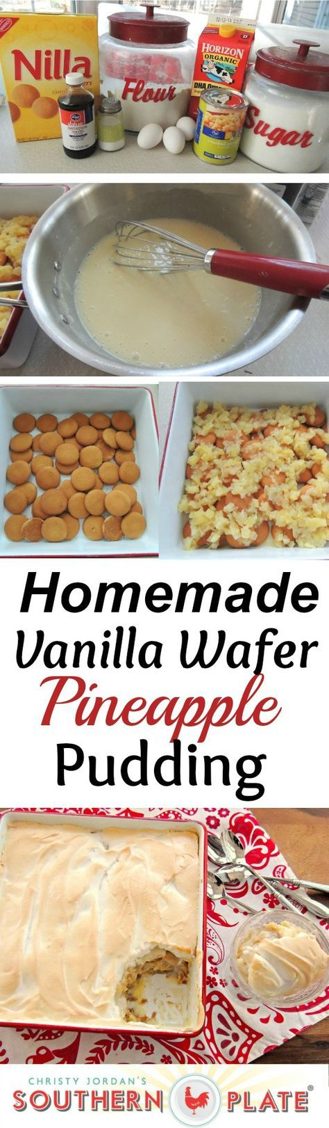 Homemade Vanilla Wafer Pineapple Pudding - this recipe shows you how EASY it is to make this old fashioned favorite! Once you make it, you'll wonder how you ever lived without it!