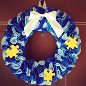 Autism Awareness Wreath