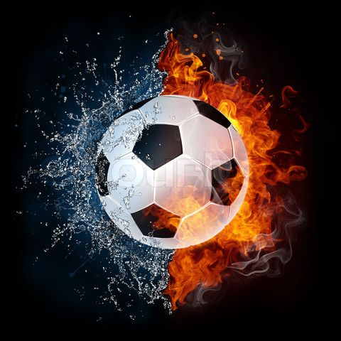 Soccer Ball With Blues Fires Image Of Soccer Ball On Fire Isolater On Black 2d Graphics Soccer Ball Soccer Soccer Backgrounds