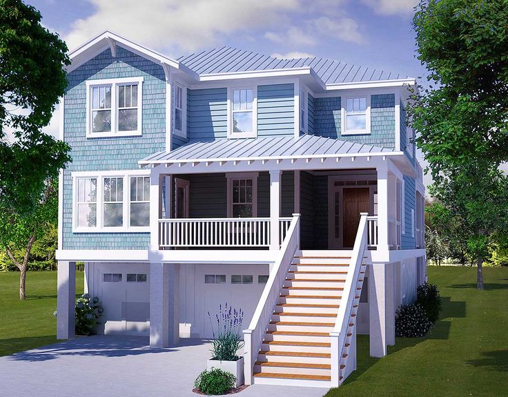 Four Bedroom Beach House Plan - 15009NC   Beach, Low Country, Shingle, Vacation, Narrow Lot, Photo Gallery, 2nd Floor Master Suite, CAD Available, Drive Under Garage, Elevator, MBR Sitting Area, PDF   Architectural Designs