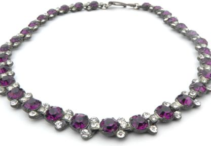 Vintage Purple Sparkler Necklace