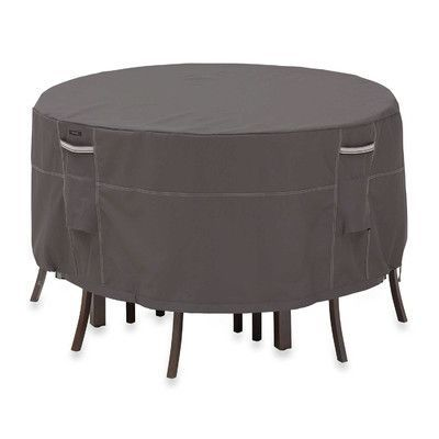 Classic Accessories Ravenna Patio Table and Chair Set Cover