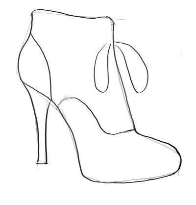 Картинки для срисовки туфли поэтапно