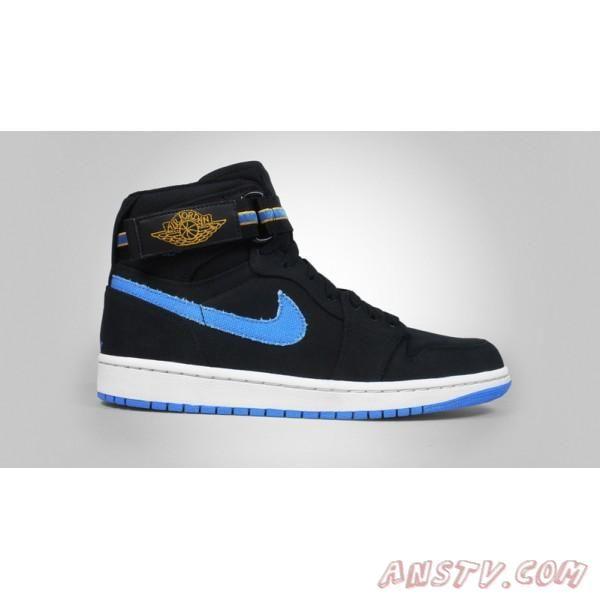 Air Jordan 1 Hommes Basket Noir / Bleu Air Jordan Homme
