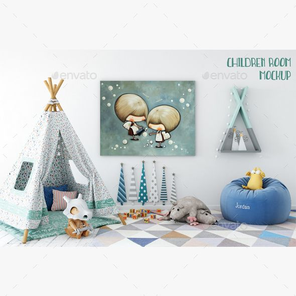 children room mockup - Home Decor Products