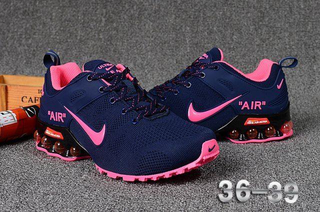 Nike Air Shox Flyknit Dark Navy Pink