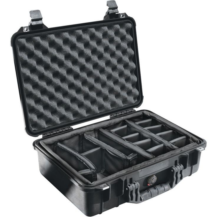 "Pelican Case With Padded Divider (1500 Case; Dim: 16.75""l X 11.18""w X 6.12""h)"