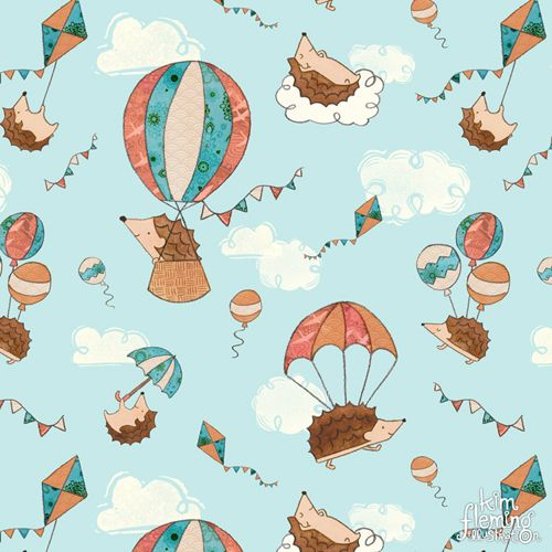 Hedgehogs travel by parachute, hot air balloon, kite, and umbrella, didn't you know? Created with watercolours, hand carved stamps and lots of fun and whimsy