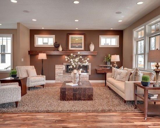 Inspired Sherwin Williams Latte Technique Minneapolis Transitional Living Room Image Ideas With Area Rug Baseboard Coffee Table Earth Tones Fireplace