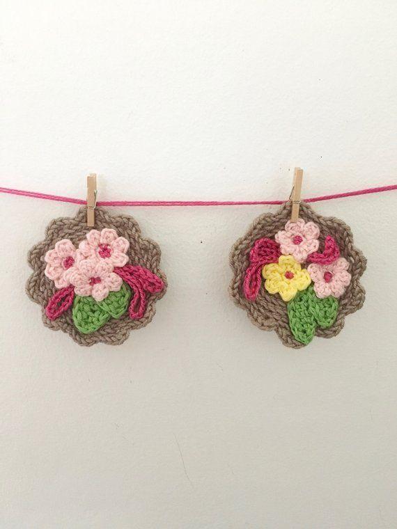 Pdf Pattern Crochet Pattern Crochet Jewelery Crochet Brooch