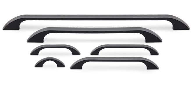New to the Cliffside Industries Decorative Hardware Suites for 2017 is the Alba Series Decorative Cabinet Hardware Collection which offers a sleek and ultra-modern suite of decorative hardware. Focused entirely on cabinet pull handles, the shapes evoke visions of a sunrise peeking over a flat horizon, and the graduated size of the collection's handles connote growth and strength. This contemporary cabinet hardware series is available in five distinctive modern and transitional finishes and…