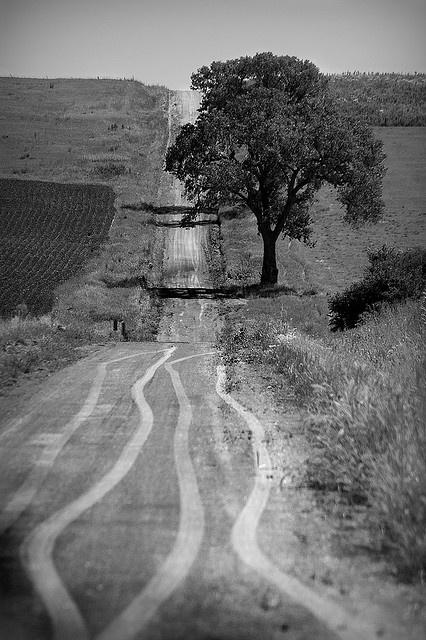 eastern Nebraska - full of farm roads and foothills