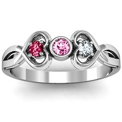 Mothers Day..hint,hint!  Twin Hearts with Center Bezel  Ring #jewlr
