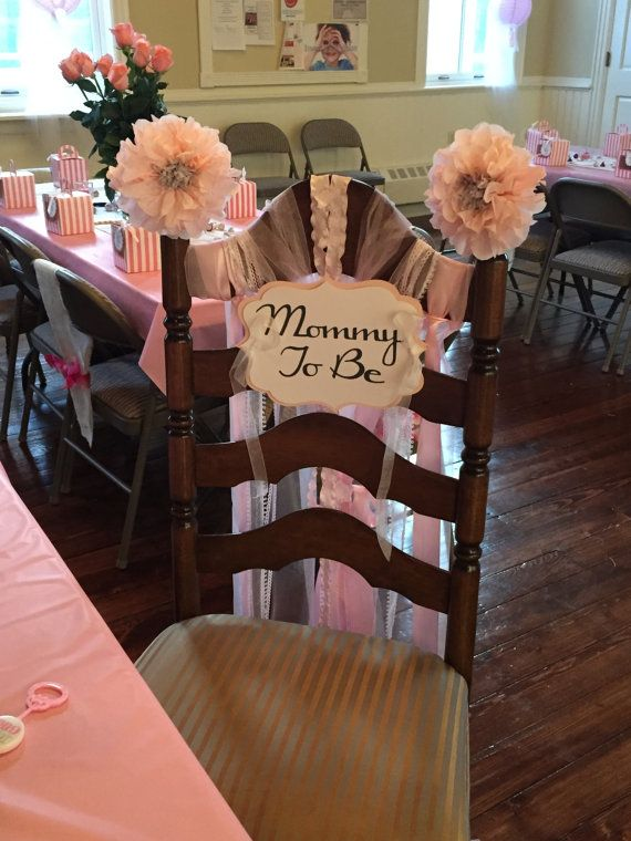 Baby Shower Mommy to be Chair Sign by iecreations on Etsy
