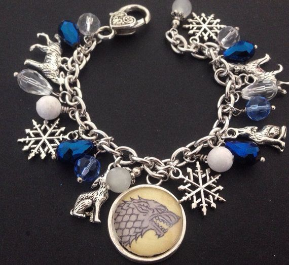 Game of thrones bracelet house stark  by dalyjewels on Etsy, $25.00