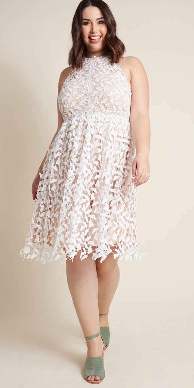 0819ac7c3cd 20 Plus Size Rehearsal Dinner Dresses - Plus Size White Dress for  Bachelorette Party - Alexa Webb - alexawebb.com  plussize  alexawebb