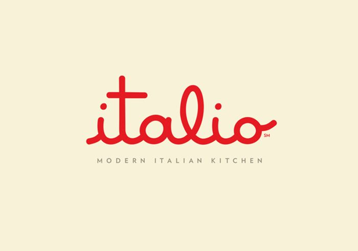 This is a really great script logo for Italio