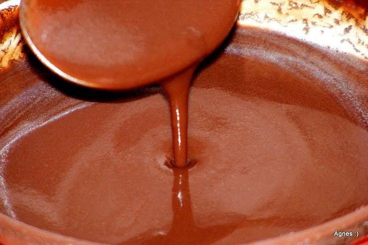 Hozzávalók:   4 dl  víz   1 evőkanál (ét)csokoládés puding por (de helyettesíthető liszttel is)   1 púpozott evőkanál jó minőségű keserű ka...