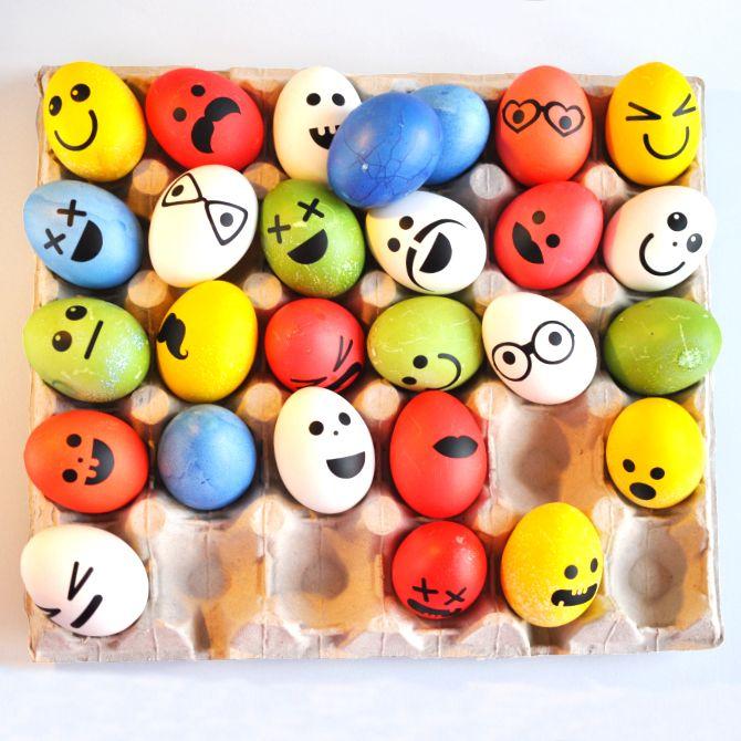Velikonoční samolepky na vajíčka