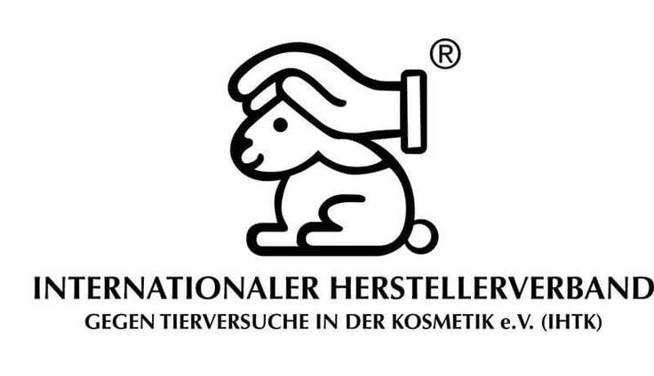 Logo Kosmetik ohne Tierversuche - Hase mit schuetzender Hand