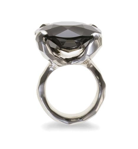 Black Star Ring with Black Onyx Sterling Silver - Christa Reniers
