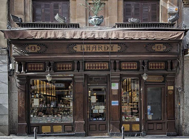 Madrid antiguo.. Lhardy's con fachada de Caoba Cubana